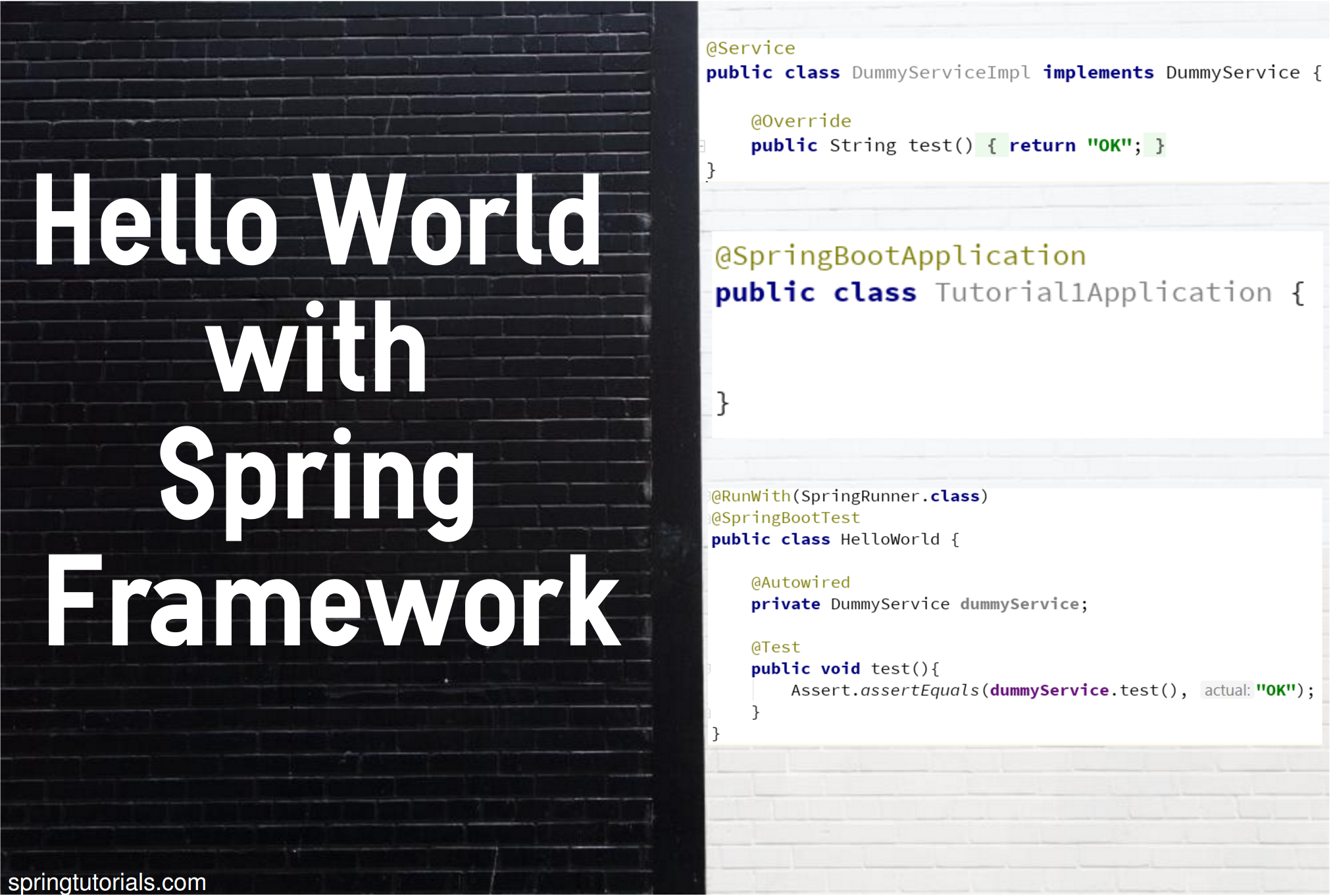 Hello World with Spring Framework